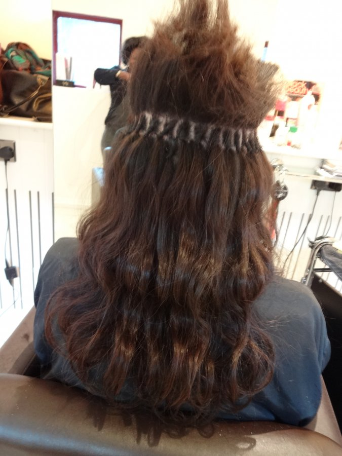 Brazilian Knots Hair Extensions Tutorial 88